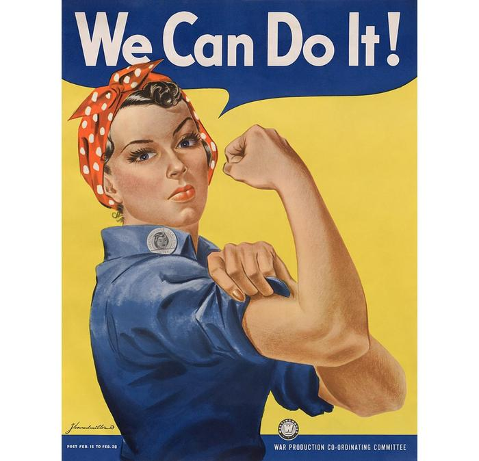 J. Howard Miller's 'We Can Do It!' poster from 1943.