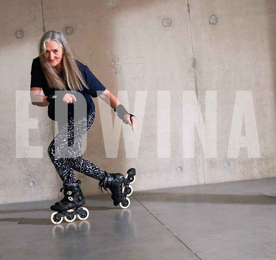 Meet Edwina, the in-line skater learning new tricks