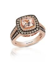 Le Vian 14ct Strawberry Gold Morganite & Diamond Ring