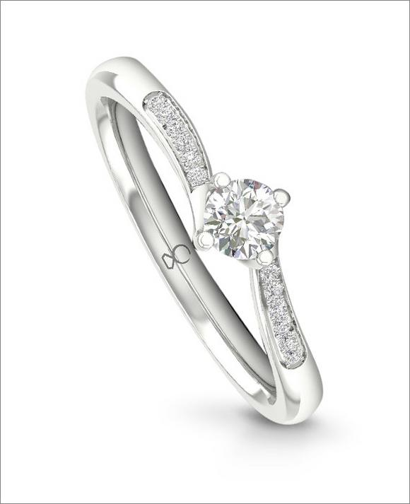 The Diamond Story 18ct White Gold 1/5ct Engagement Ring