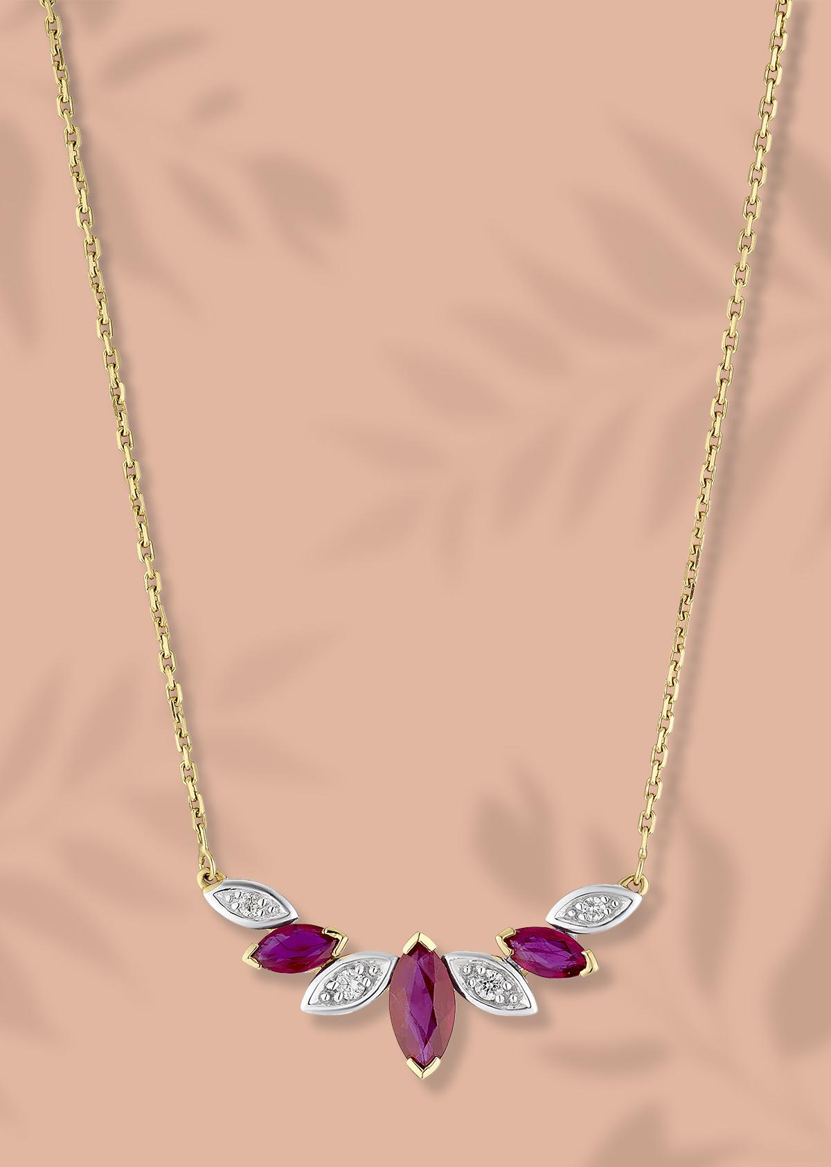 Bold Berry Gemstone necklace