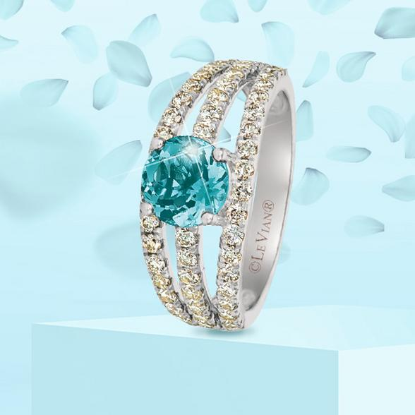 blue zircon engagement rings