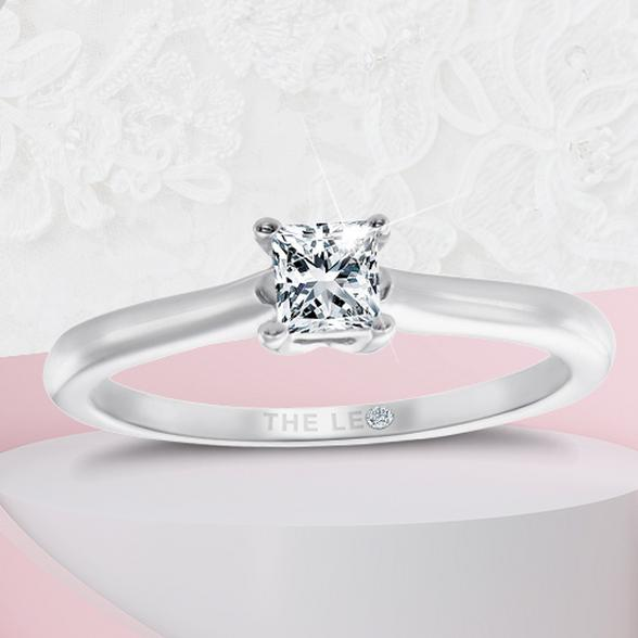 princess stone engagement rings