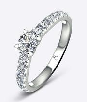 The Diamond Story Platinum 1ct Diamond Solitaire Ring