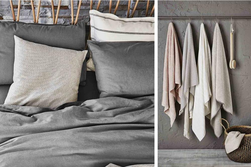 Bedeck Murmur Collection Bedding and Towels