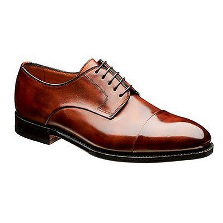 Brown derby shoe