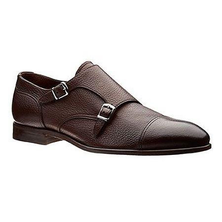Brown monkstrap shoes