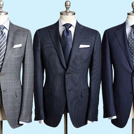 Notch collar on suit jacket