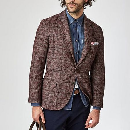 Brown check sports jacket