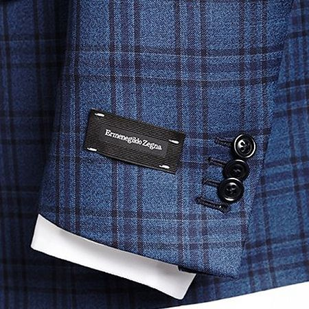 Functioning buttons on a suit jacket sleeve