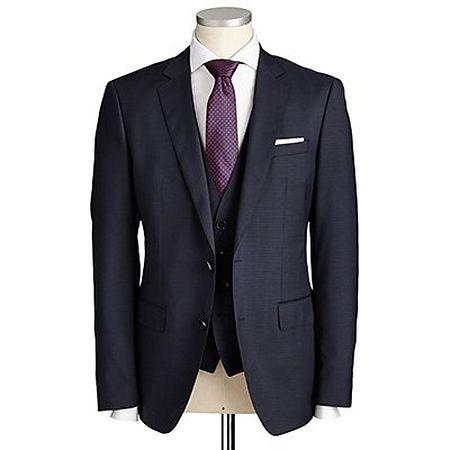 Black three-piece suit