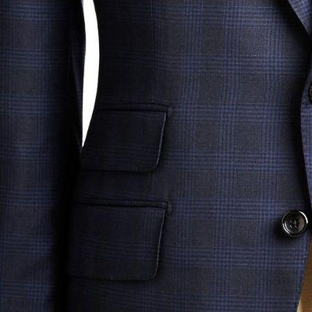 Ticket pocket on tailored jacket