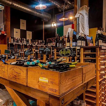 Mertrovino Wine in bins and shelves