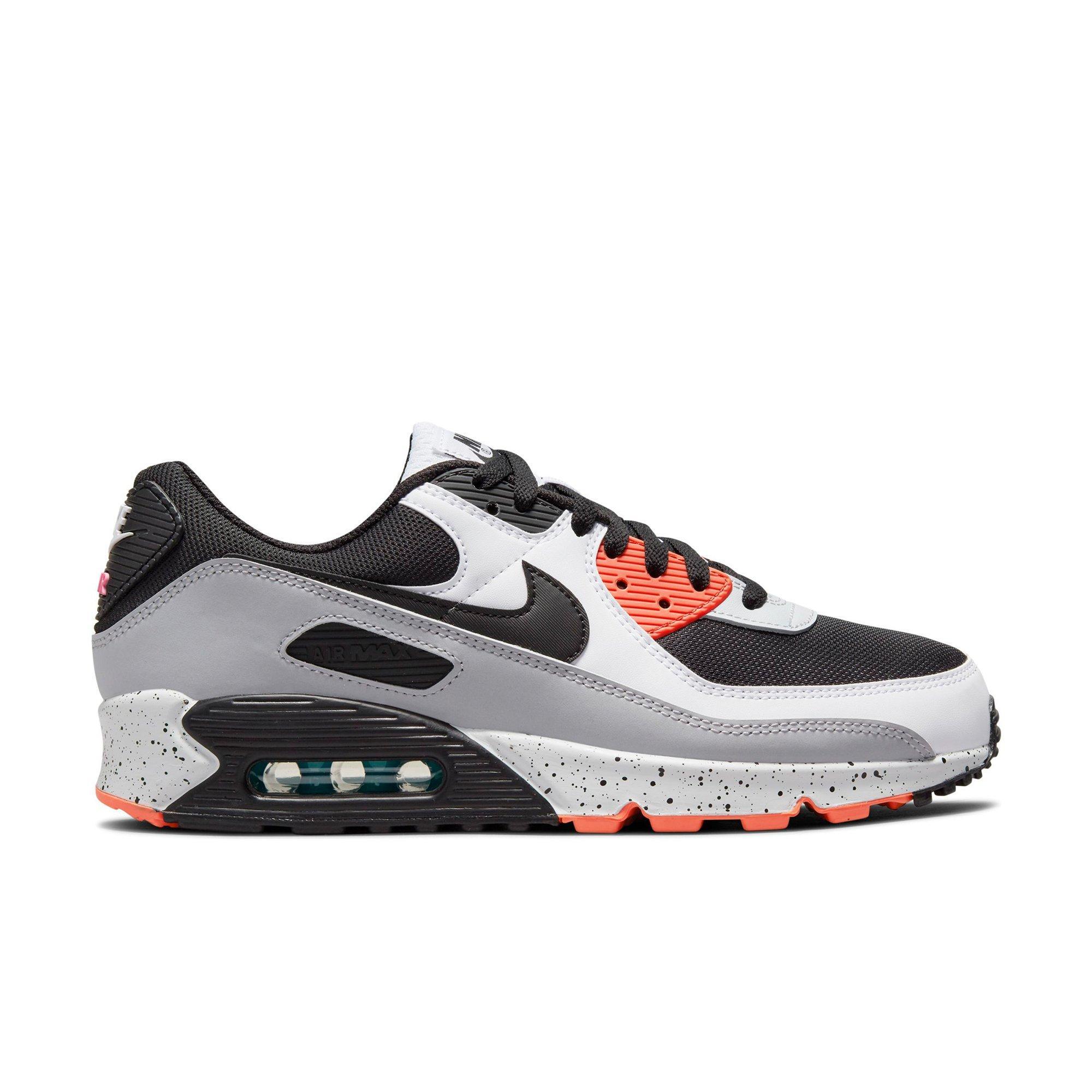 Nike Air Max 90 'White/Black/Turf Orange/Aquamarine