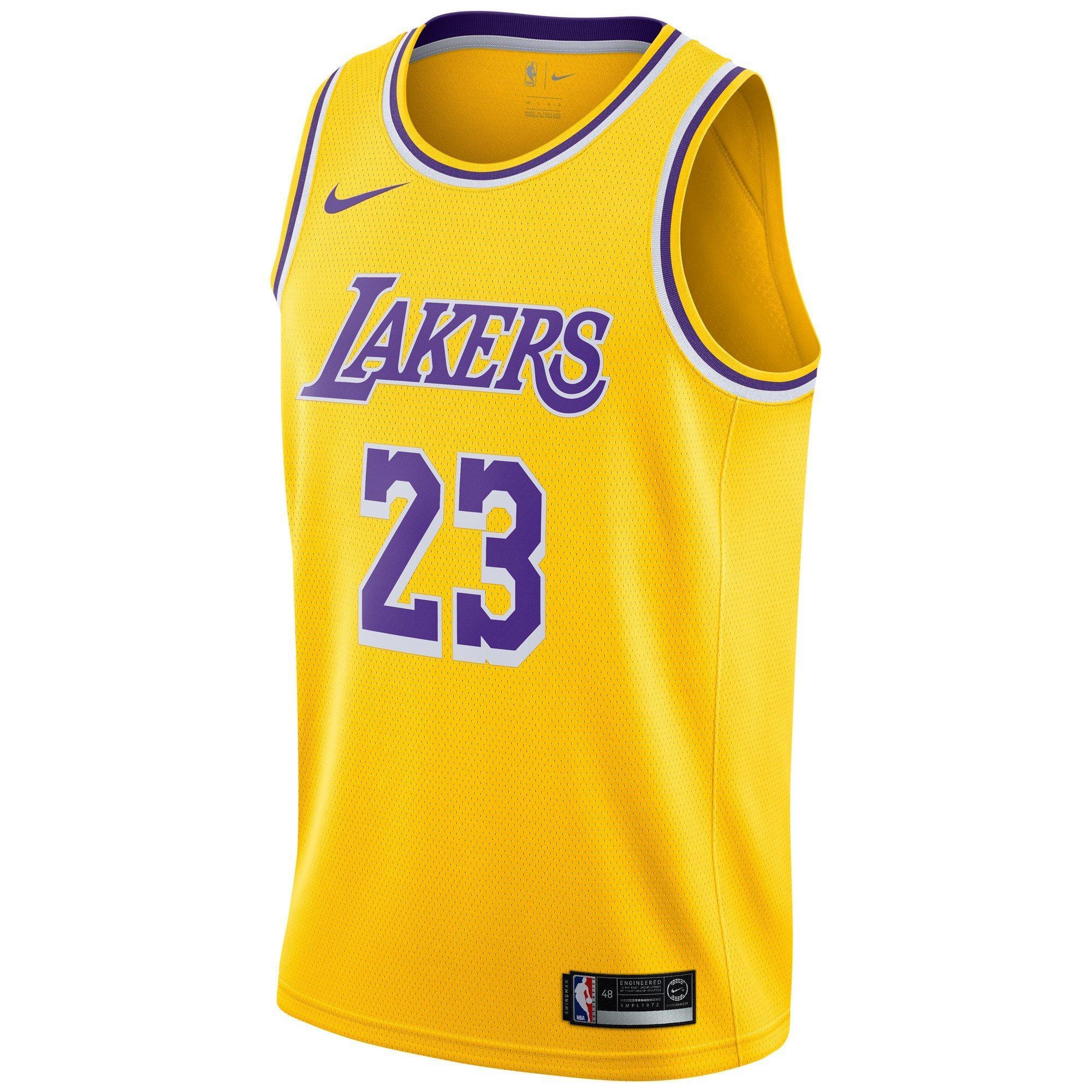Nike Men's Lebron James Los Angeles Lakers Icon Edition Swingman Jersey