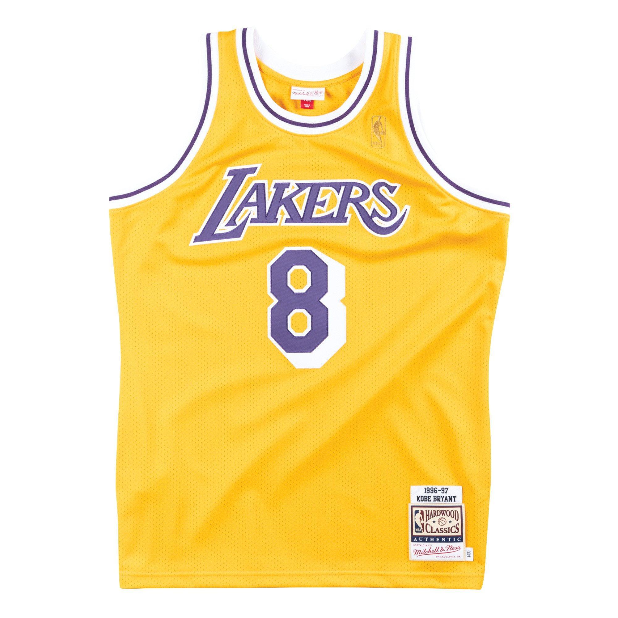 Mitchell & Ness Men's Los Angeles Lakers Kobe Bryant '96-'97 Hardwood Classics Authentic Jersey