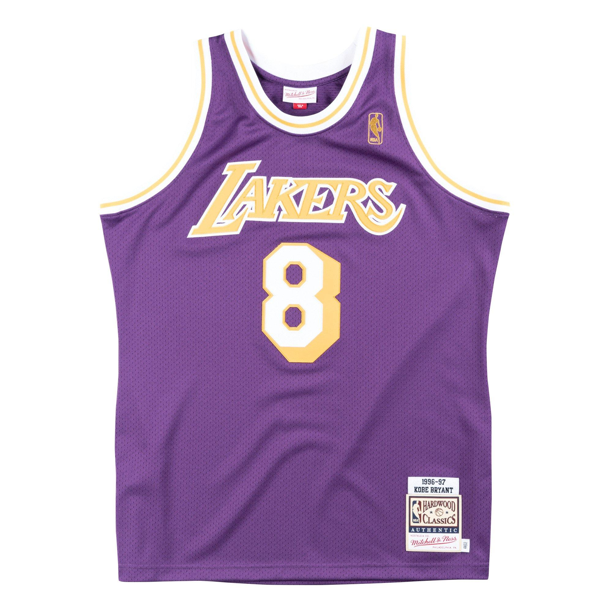 uniformes de Los Angeles Bryant NO.8 THDB Chalecos de baloncesto para hombre Kobe Lakers 1996-97 Hardwood Classics Player Jersey de secado r/ápido para hombre color morado