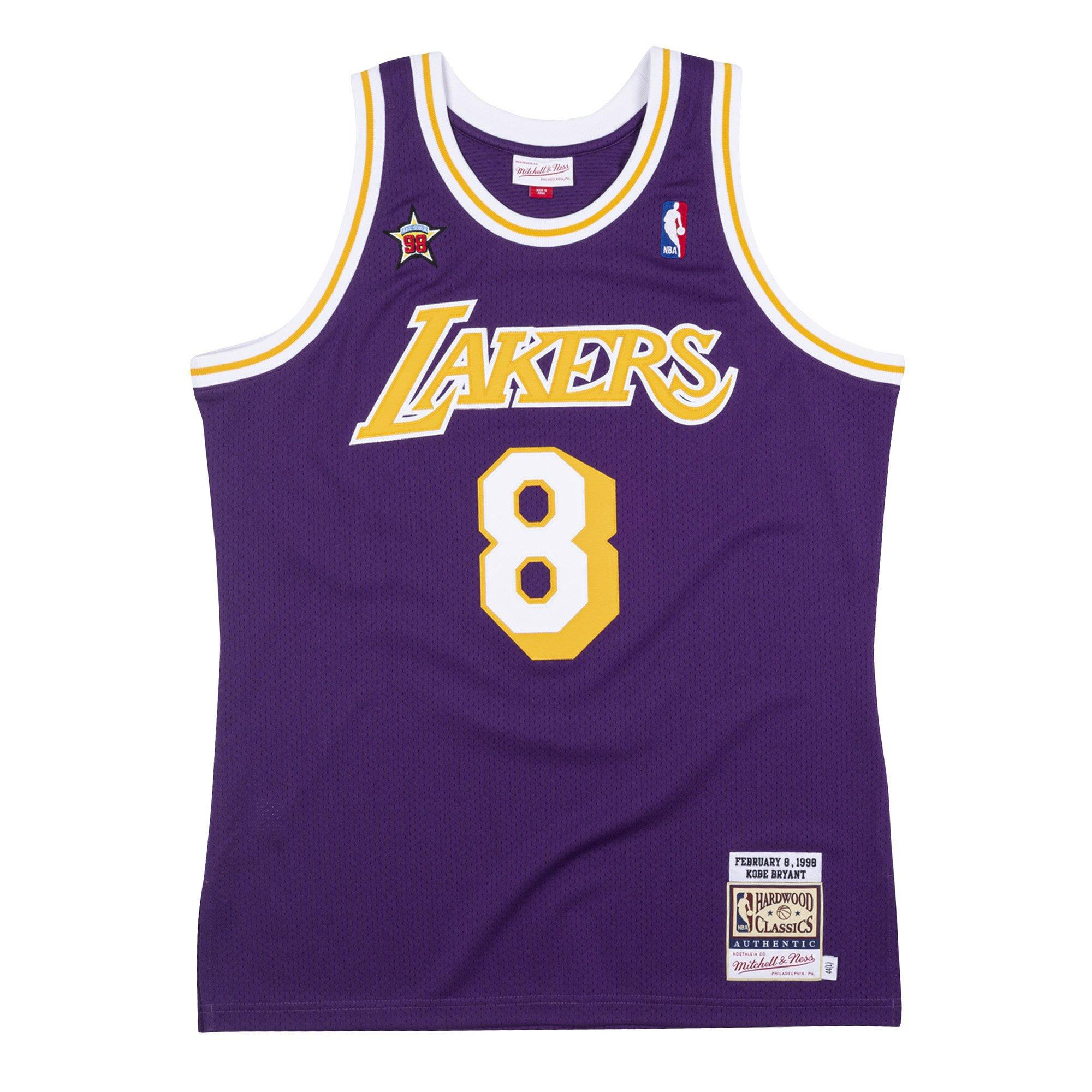 Mitchell & Ness Men's Los Angeles Lakers Kobe Bryant All Star Game West #8 Authentic Jersey