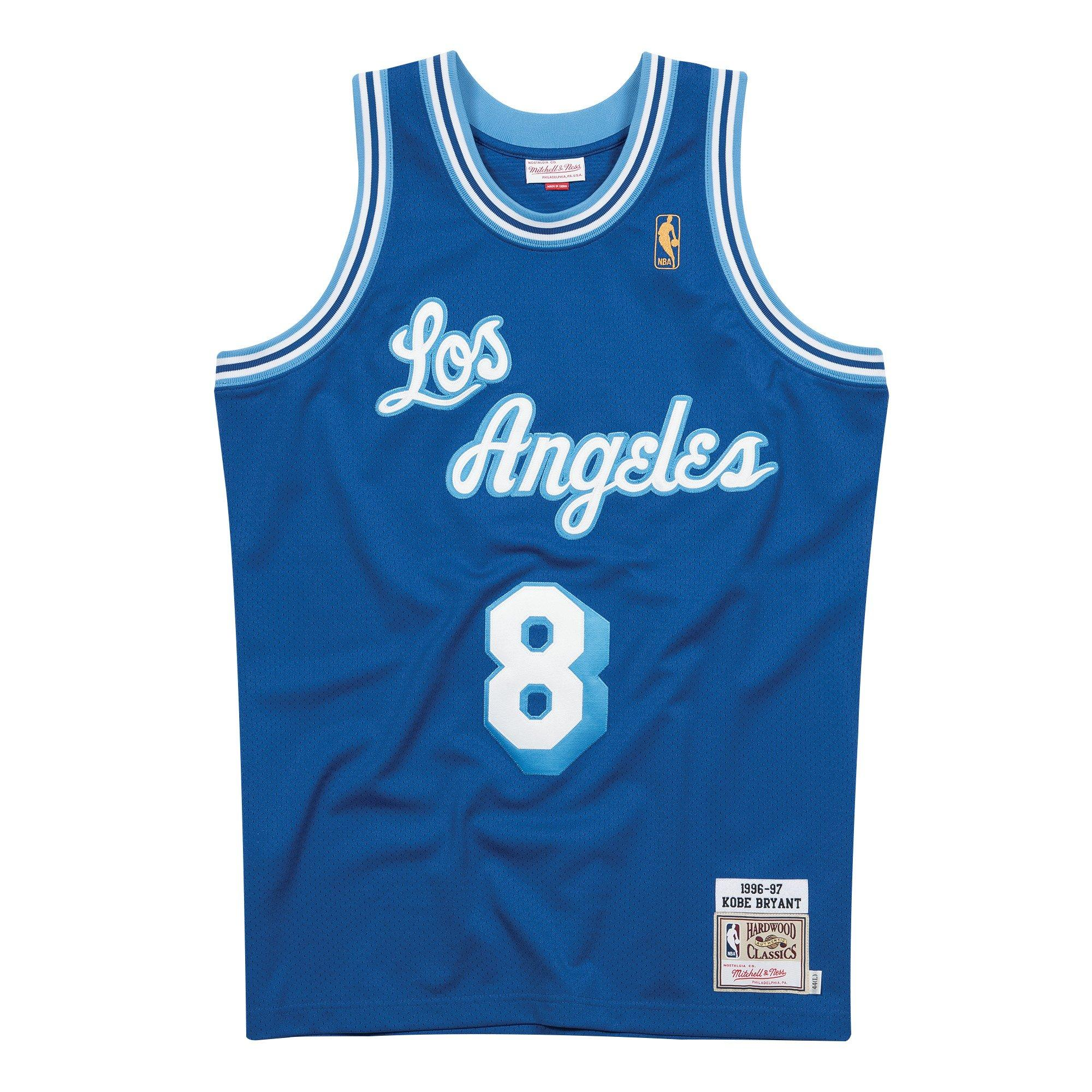 Mitchell & Ness Men's Los Angeles Lakers Kobe Bryant #8 Royal Authentic Jersey