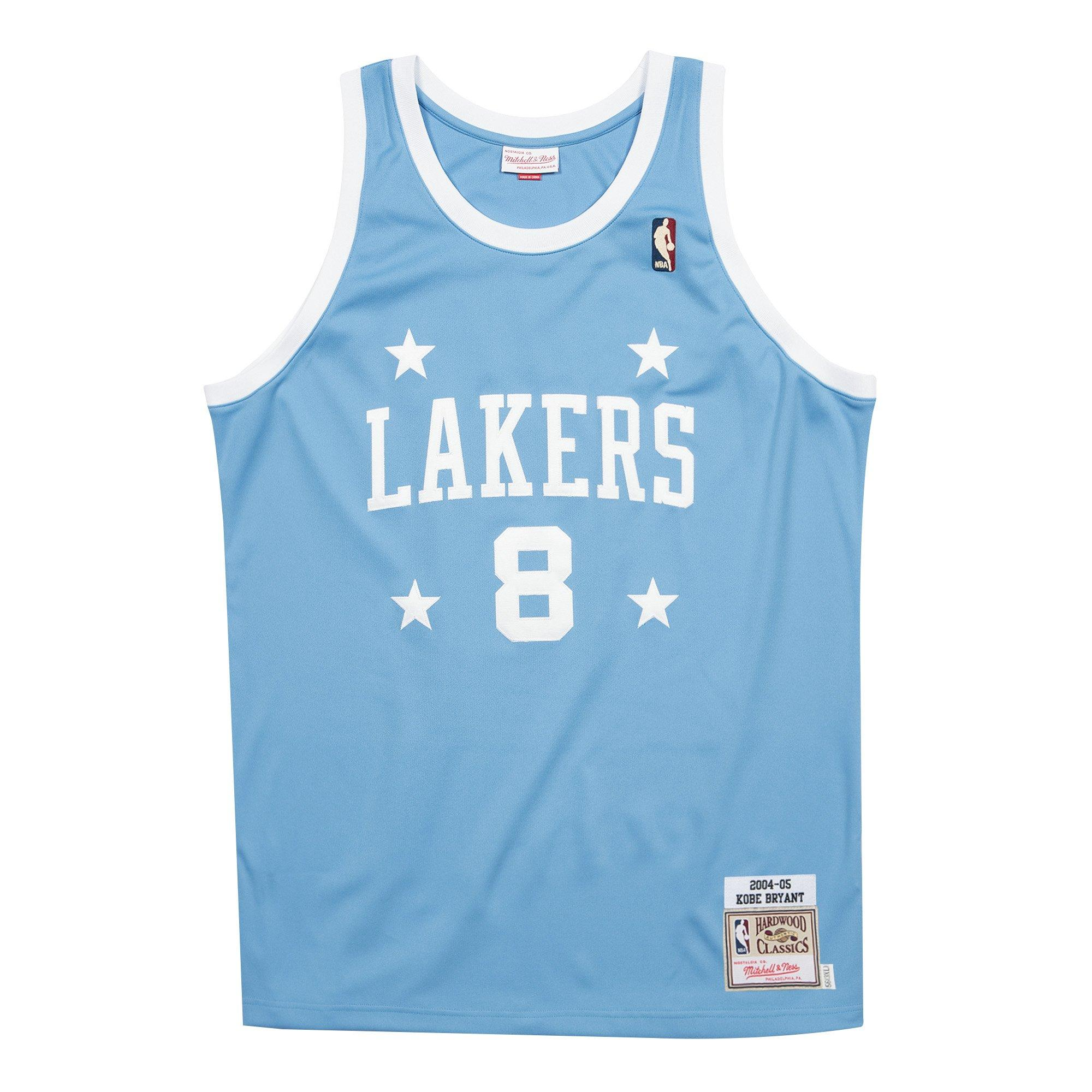 Mitchell & Ness Men's Los Angeles Lakers Kobe Bryant #8 Light Blue Authentic Jersey
