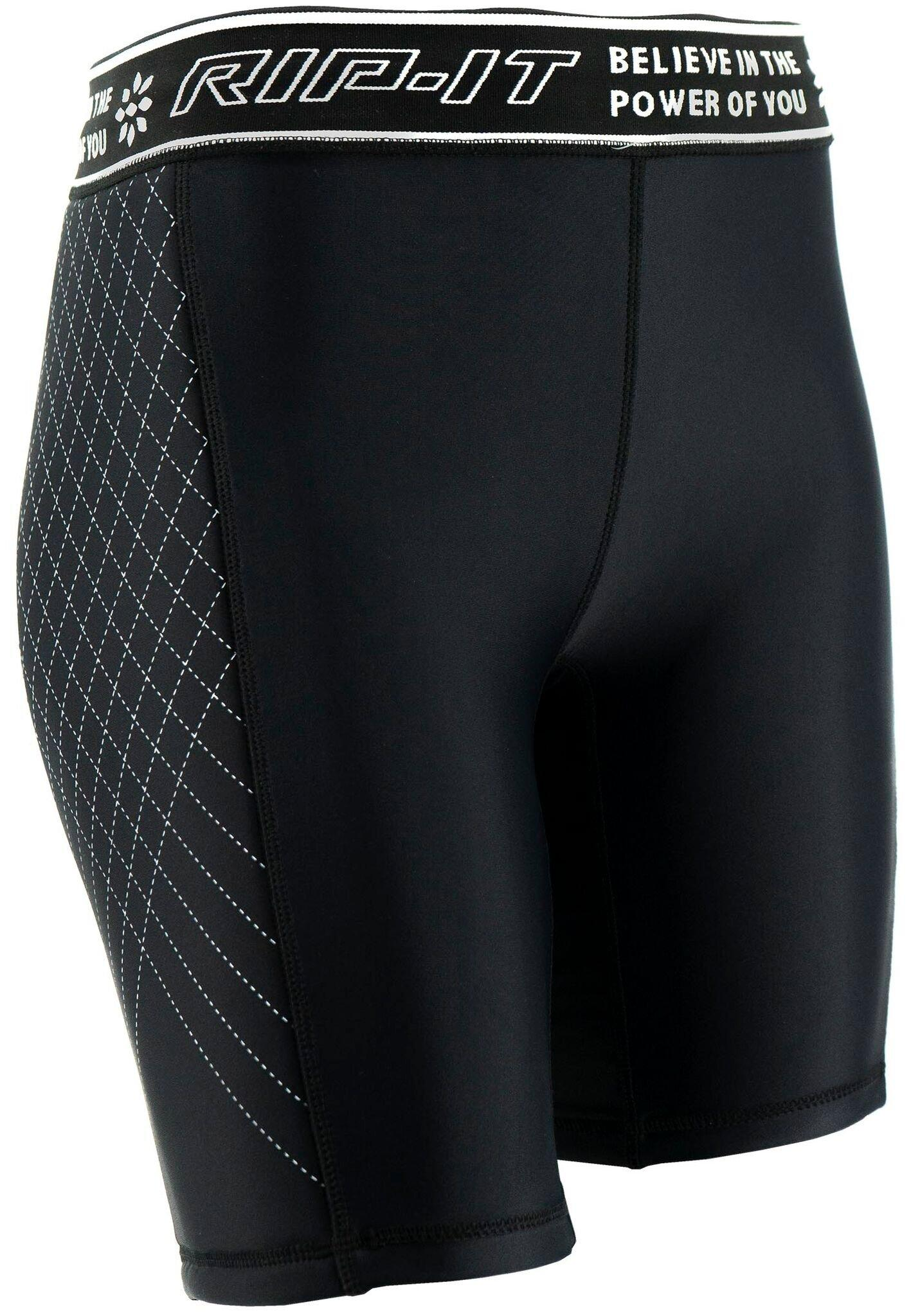White, Medium RIP-IT Girls Period-Protection Softball Sliding Shorts