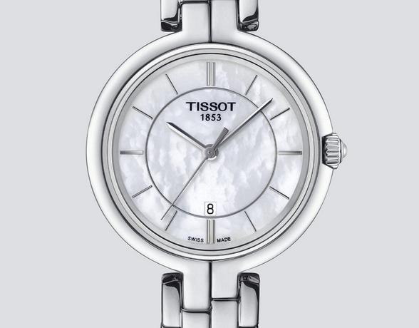 Tissot Ladies Steel Watch with Pearl Face