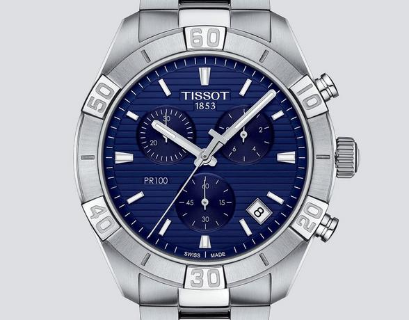 Tissot Mens Steel Watch with blue face