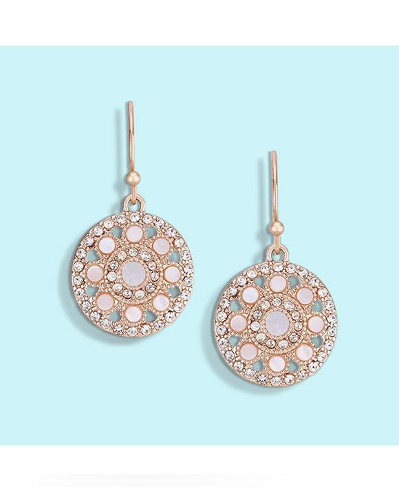 Buckley London Purley Rose Gold Plated Drop Earrings