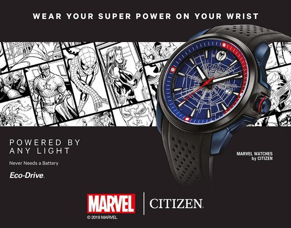 Marvel Citizens Super Power on your wrist watch