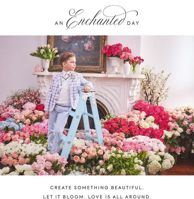 An Enchanted Day. Create something beautiful. Let it bloom. Love is all around. Shop our new Easter collection for boy.