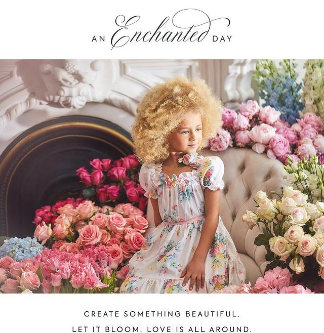 An Enchanted Day. Create something beautiful. Let it bloom. Love is all around. Shop our new Easter collection for girl.